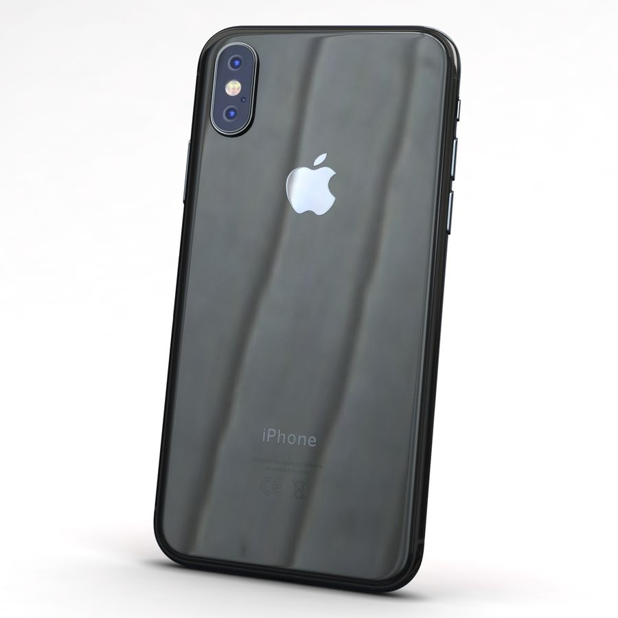 Apple iPhone X Space Gray royalty-free 3d model - Preview no. 5