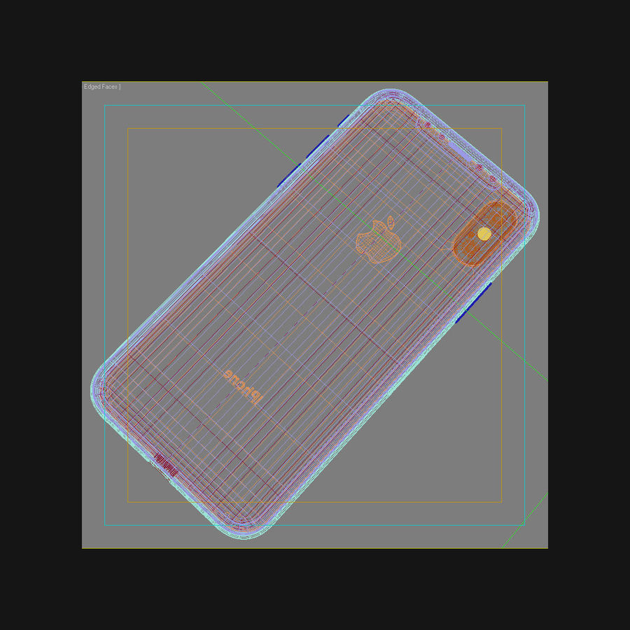 Apple iPhone X Space Gray royalty-free 3d model - Preview no. 44