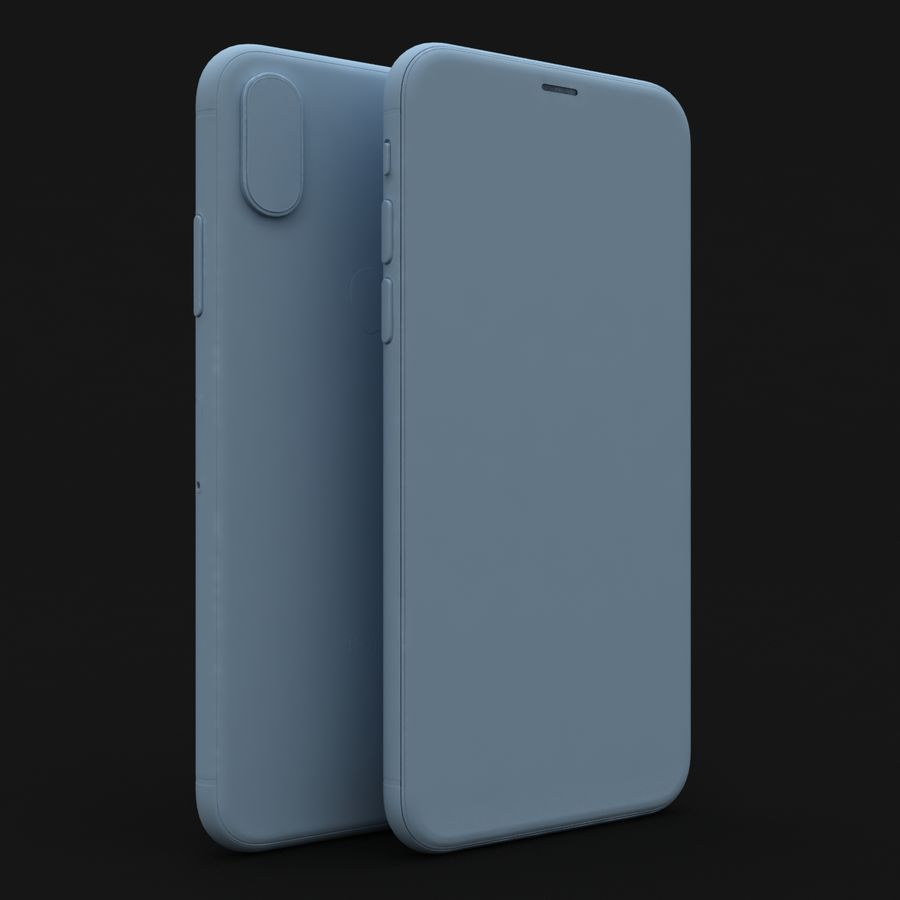 Apple iPhone X Space Gray royalty-free 3d model - Preview no. 27