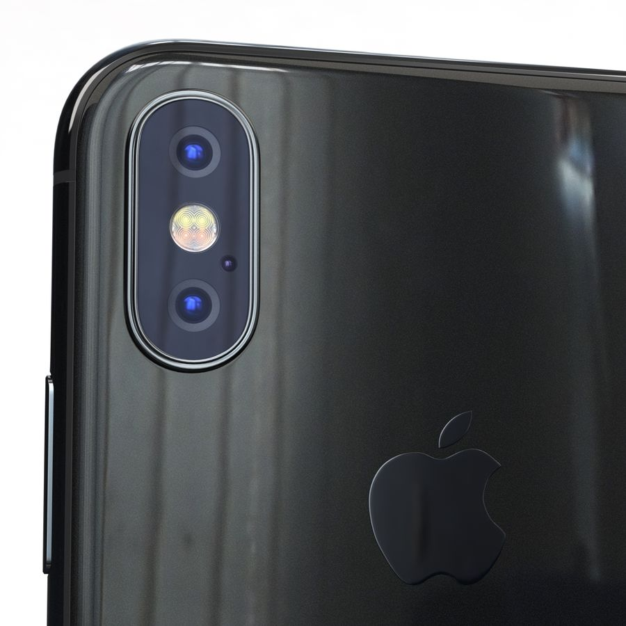 Apple iPhone X Space Gray royalty-free 3d model - Preview no. 20