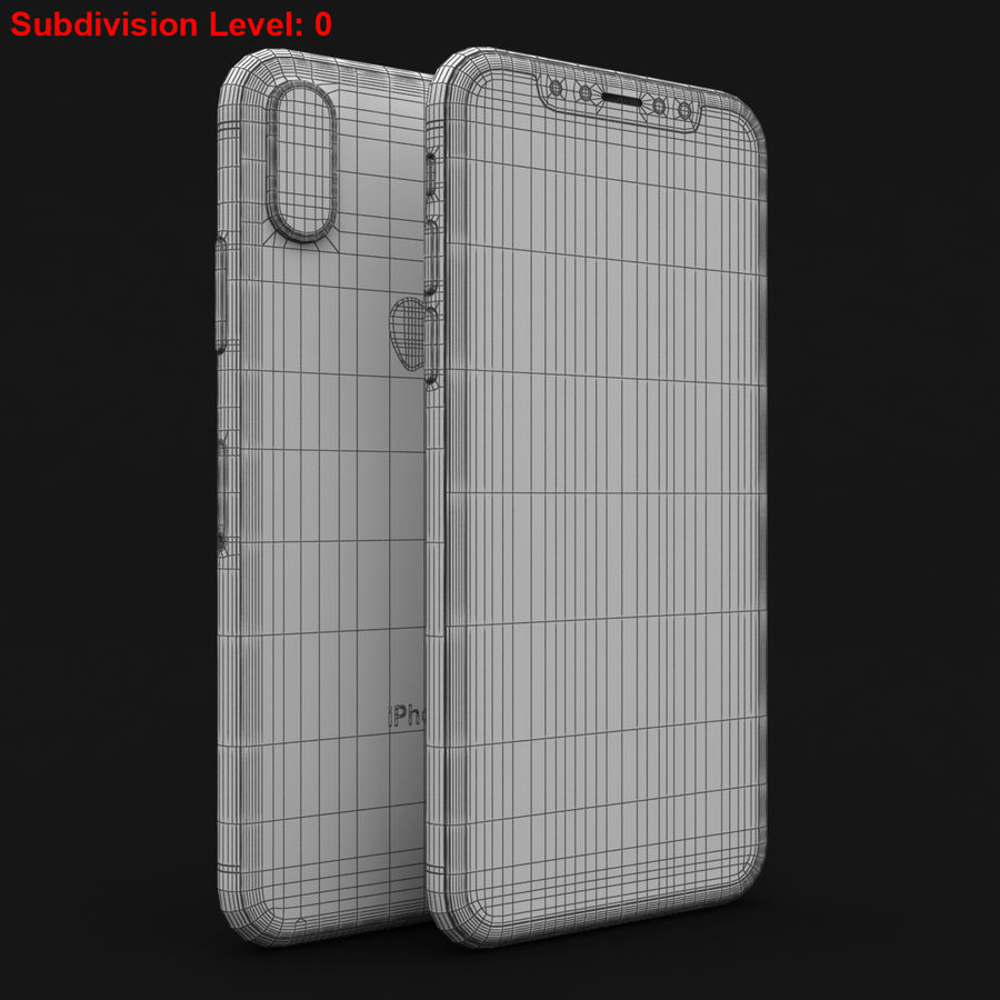 Apple iPhone X Space Gray royalty-free 3d model - Preview no. 29