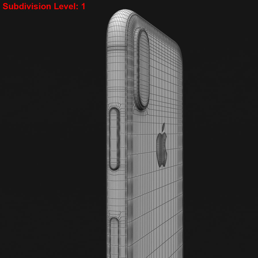 Apple iPhone X Space Gray royalty-free 3d model - Preview no. 32