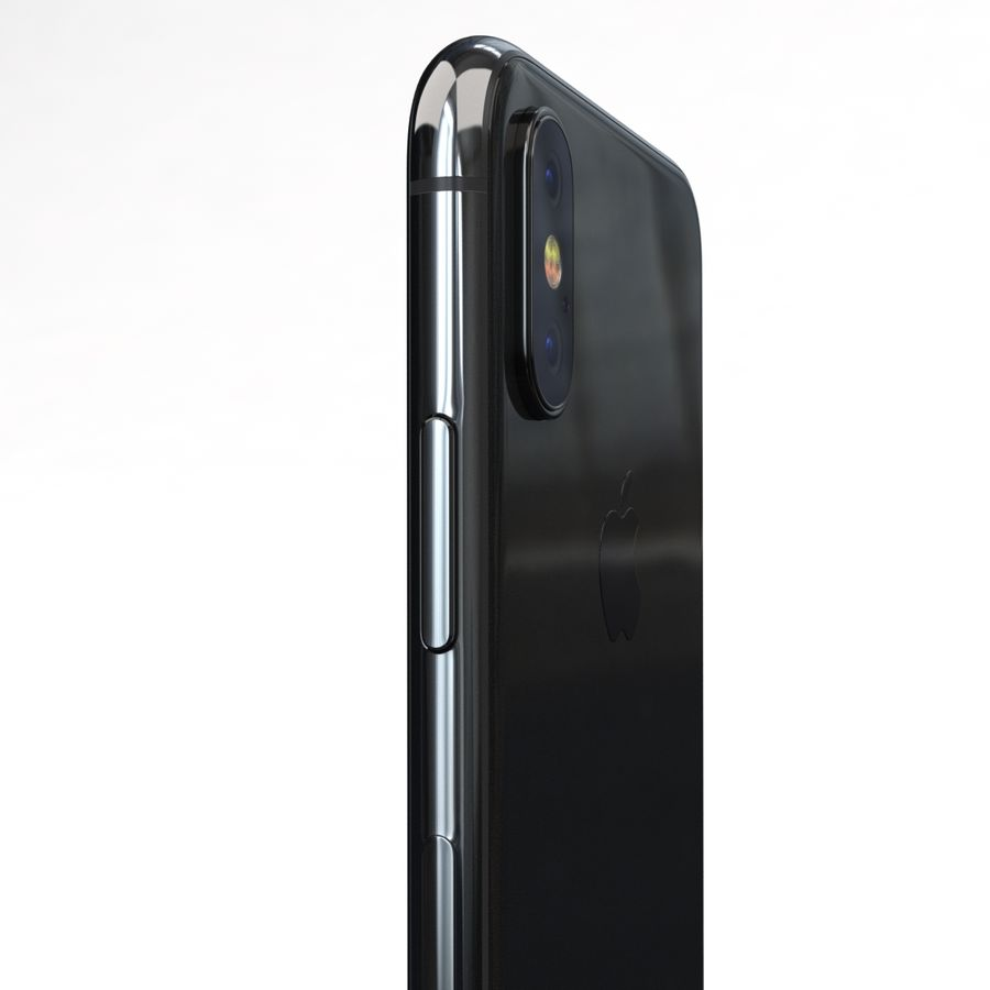 Apple iPhone X Space Gray royalty-free 3d model - Preview no. 18