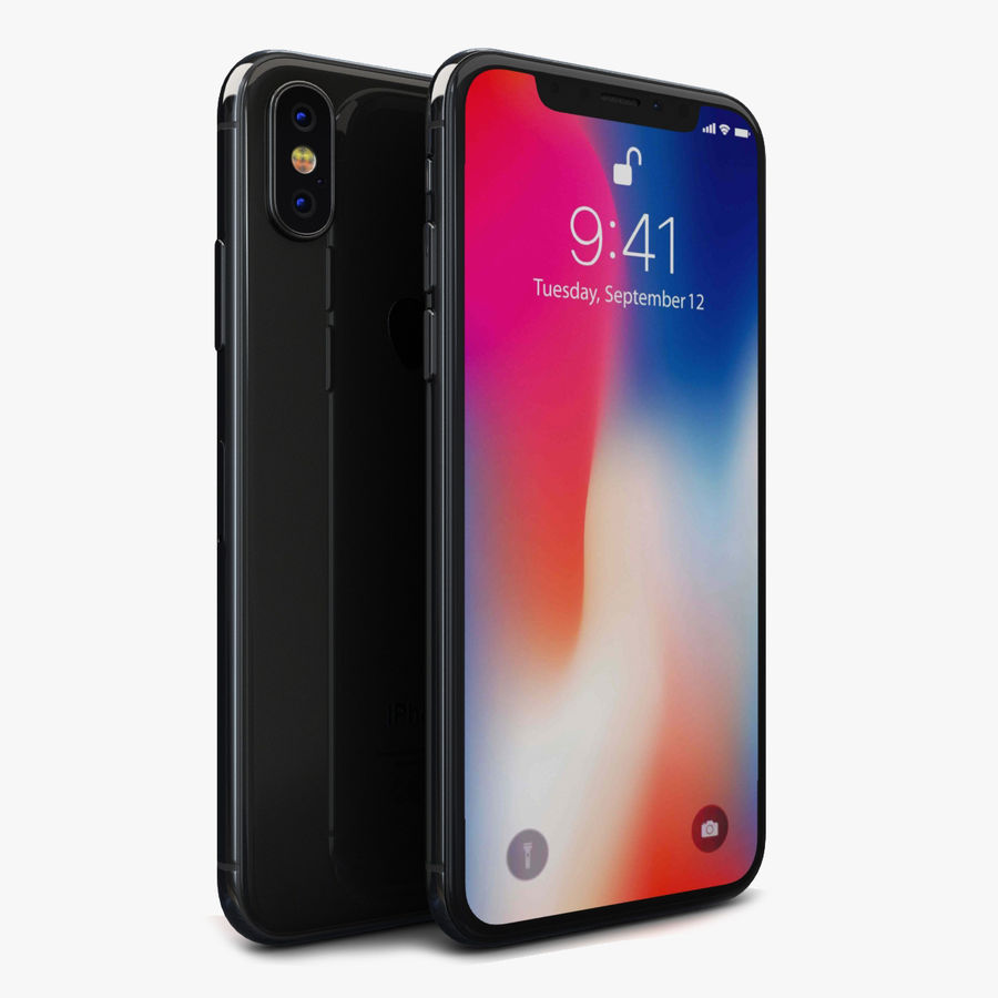 Apple iPhone X Space Gray royalty-free 3d model - Preview no. 1