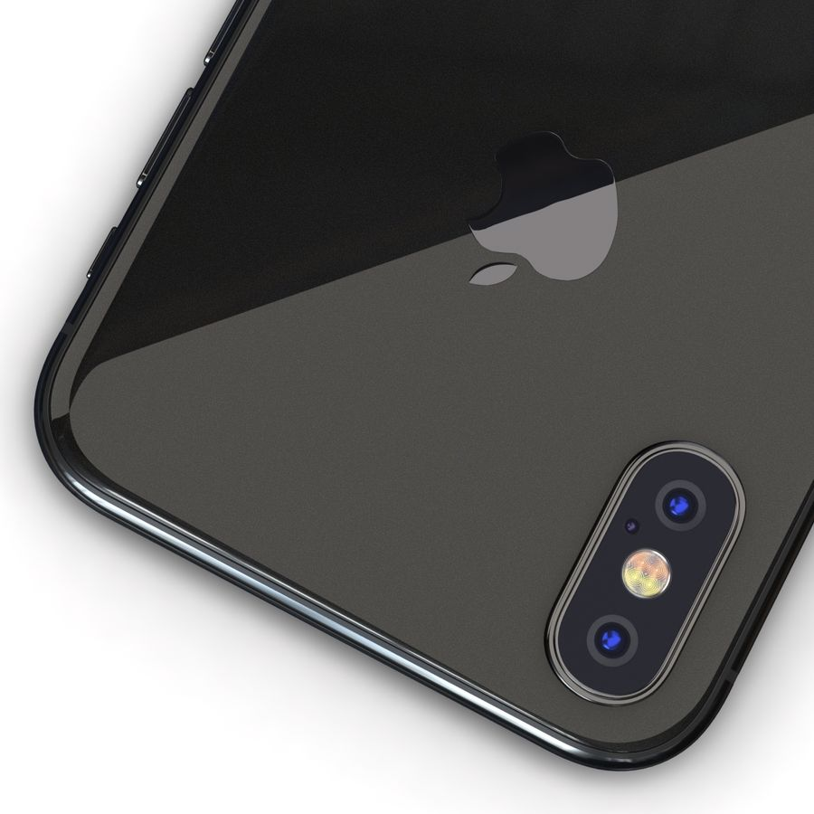 Apple iPhone X Space Gray royalty-free 3d model - Preview no. 14