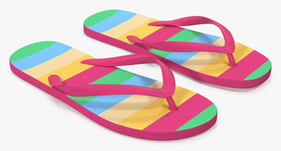Flip Flop Sandals royalty-free 3d model - Preview no. 5