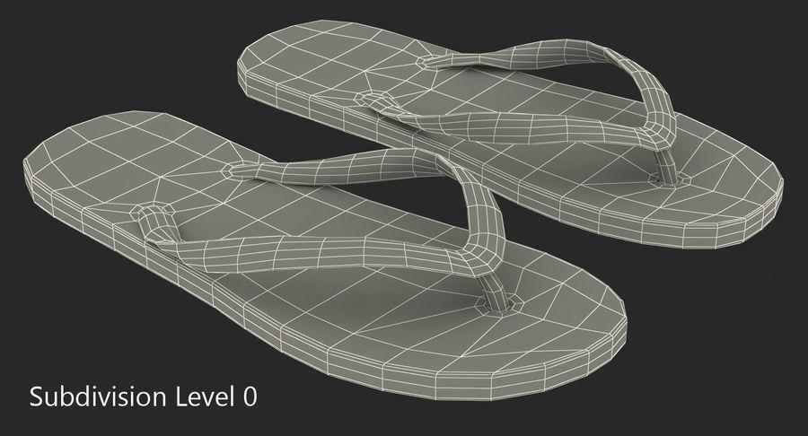 Flip Flop Sandals royalty-free 3d model - Preview no. 8