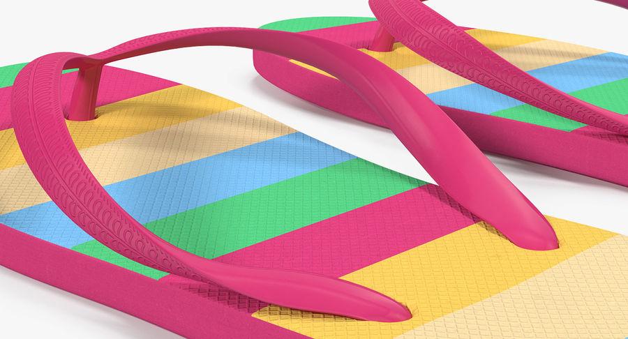 Flip Flop Sandals royalty-free 3d model - Preview no. 6