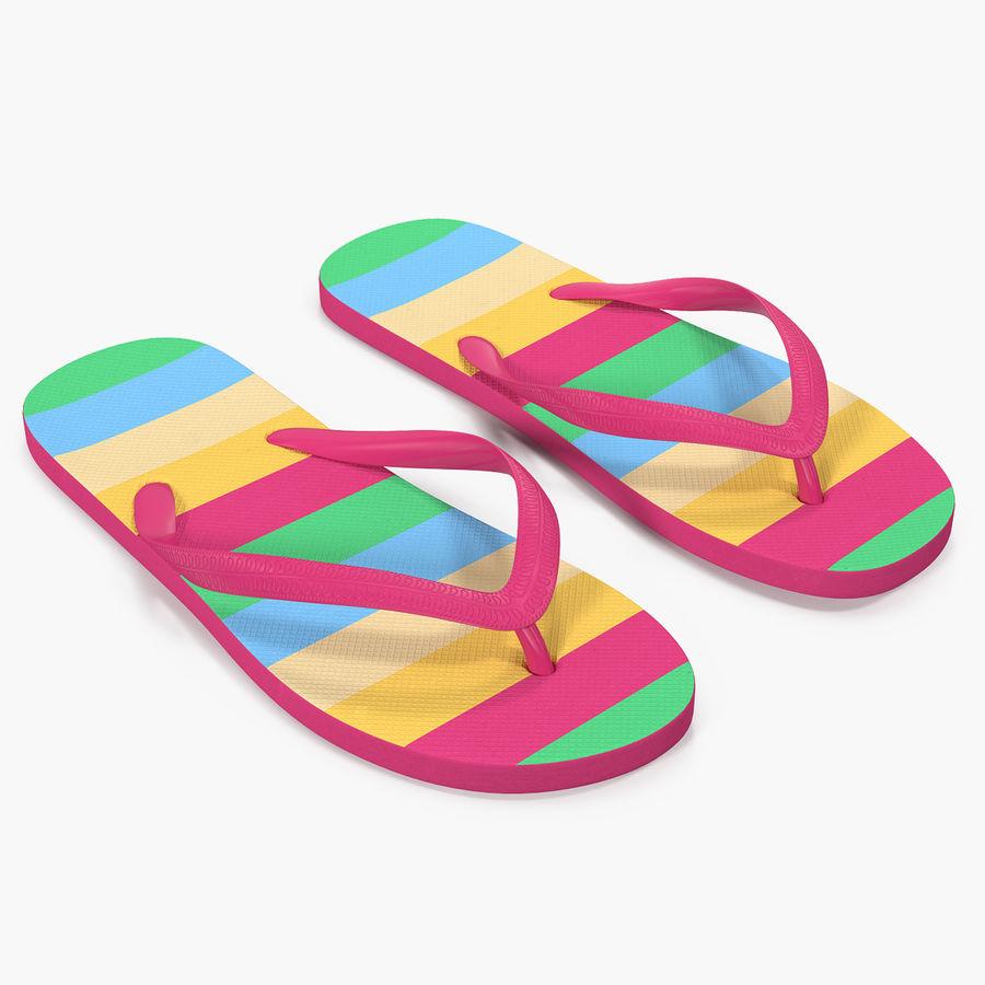Flip Flop Sandals royalty-free 3d model - Preview no. 1