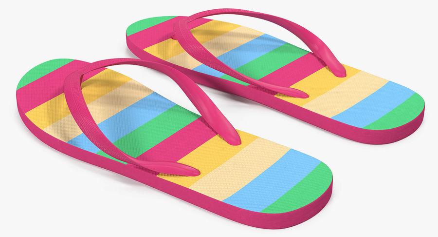 Flip Flop Sandals royalty-free 3d model - Preview no. 4