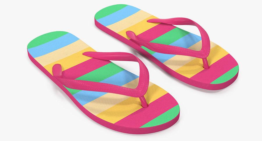 Flip Flop Sandals royalty-free 3d model - Preview no. 2