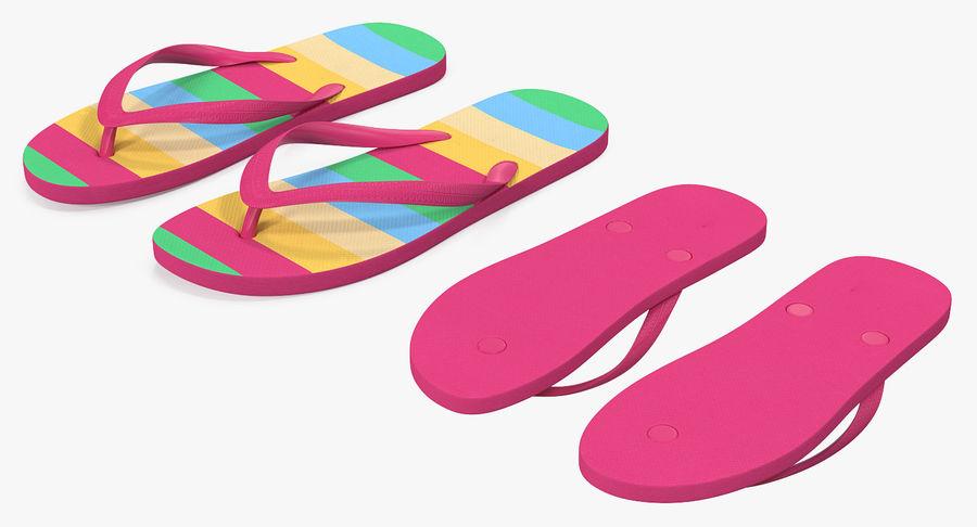 Flip Flop Sandals royalty-free 3d model - Preview no. 7