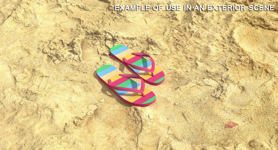 Flip Flop Sandals royalty-free 3d model - Preview no. 3
