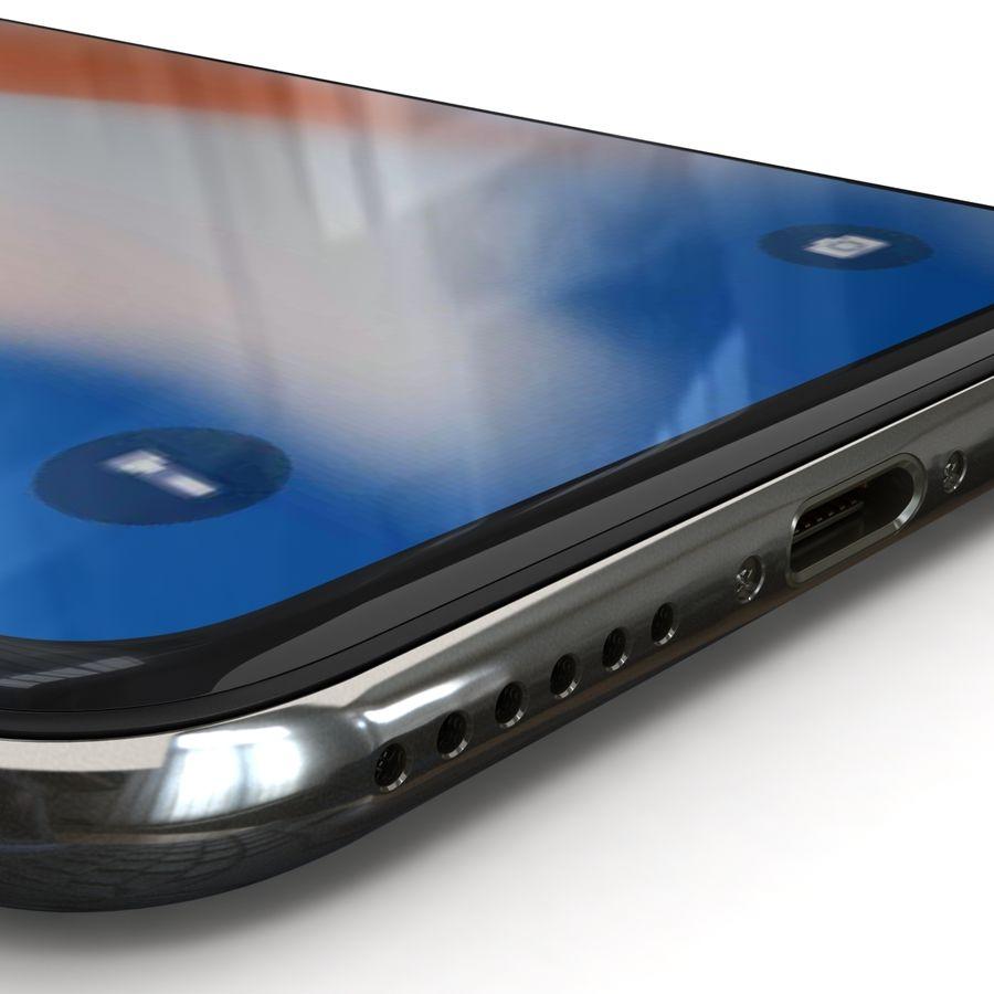 Apple iPhone X Prateado royalty-free 3d model - Preview no. 8