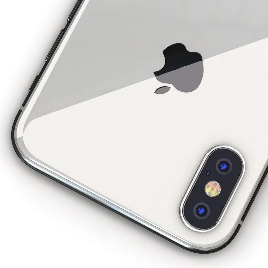 Apple iPhone X Prateado royalty-free 3d model - Preview no. 14