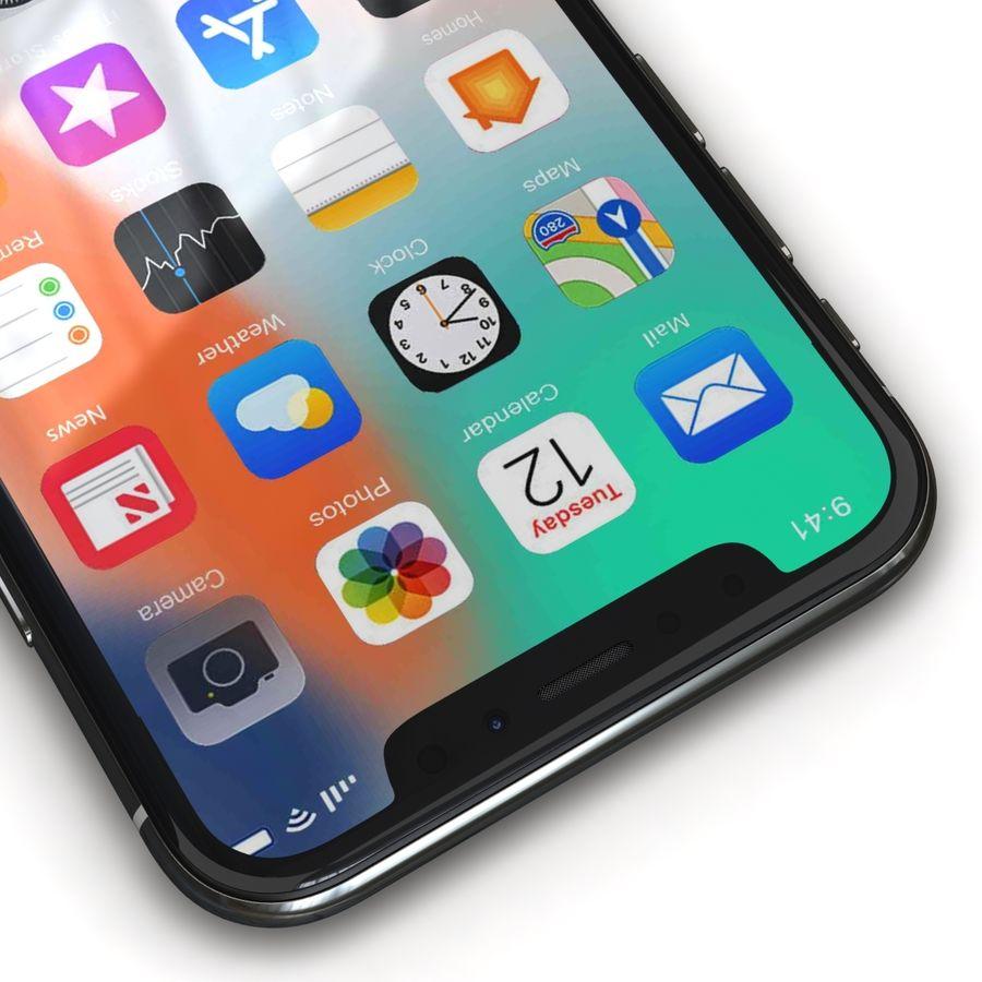 Apple iPhone X Prateado royalty-free 3d model - Preview no. 10