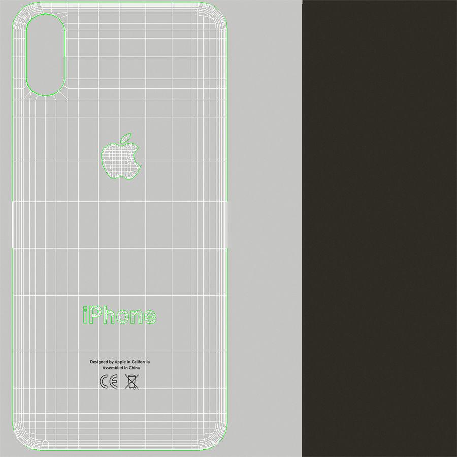 Apple iPhone X Prateado royalty-free 3d model - Preview no. 26