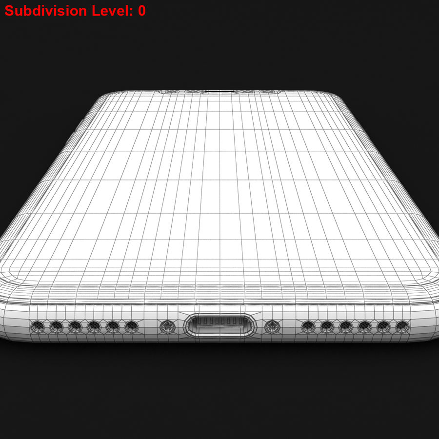 Apple iPhone X Prateado royalty-free 3d model - Preview no. 31