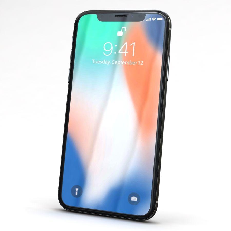 Apple iPhone X Prateado royalty-free 3d model - Preview no. 3