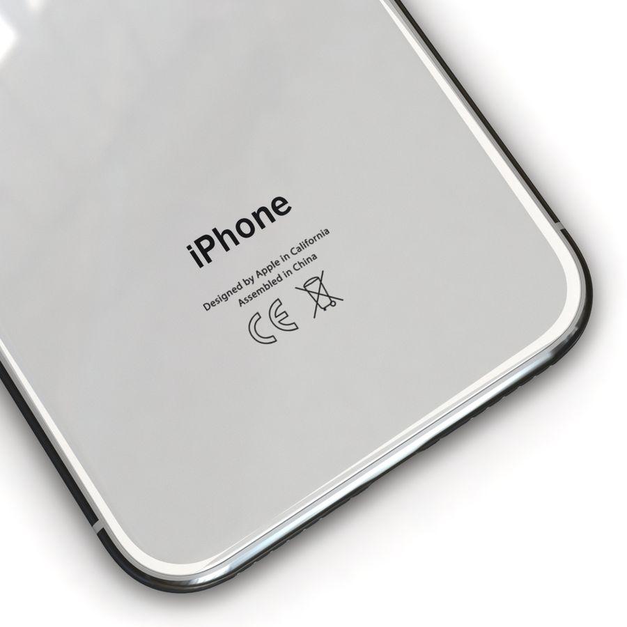 Apple iPhone X Prateado royalty-free 3d model - Preview no. 13