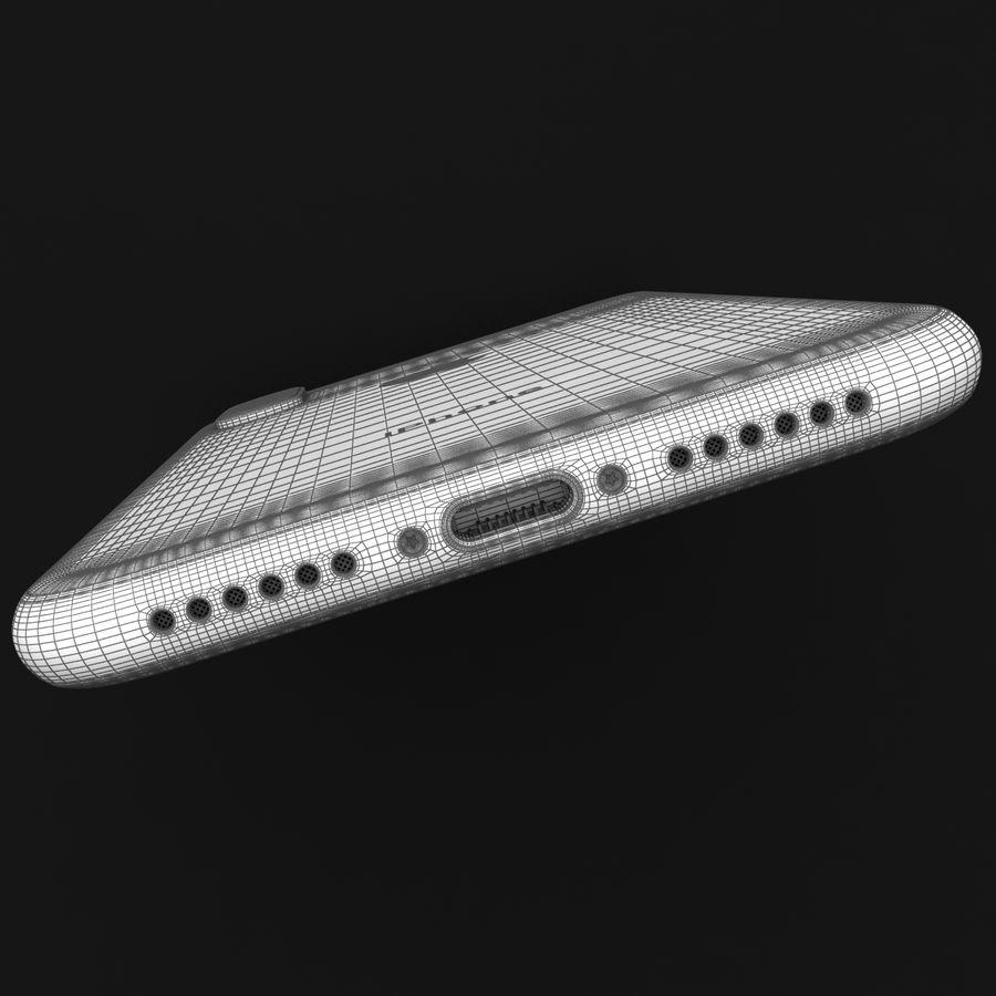 Apple iPhone X Prateado royalty-free 3d model - Preview no. 40
