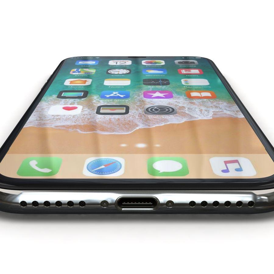 Apple iPhone X Prateado royalty-free 3d model - Preview no. 16