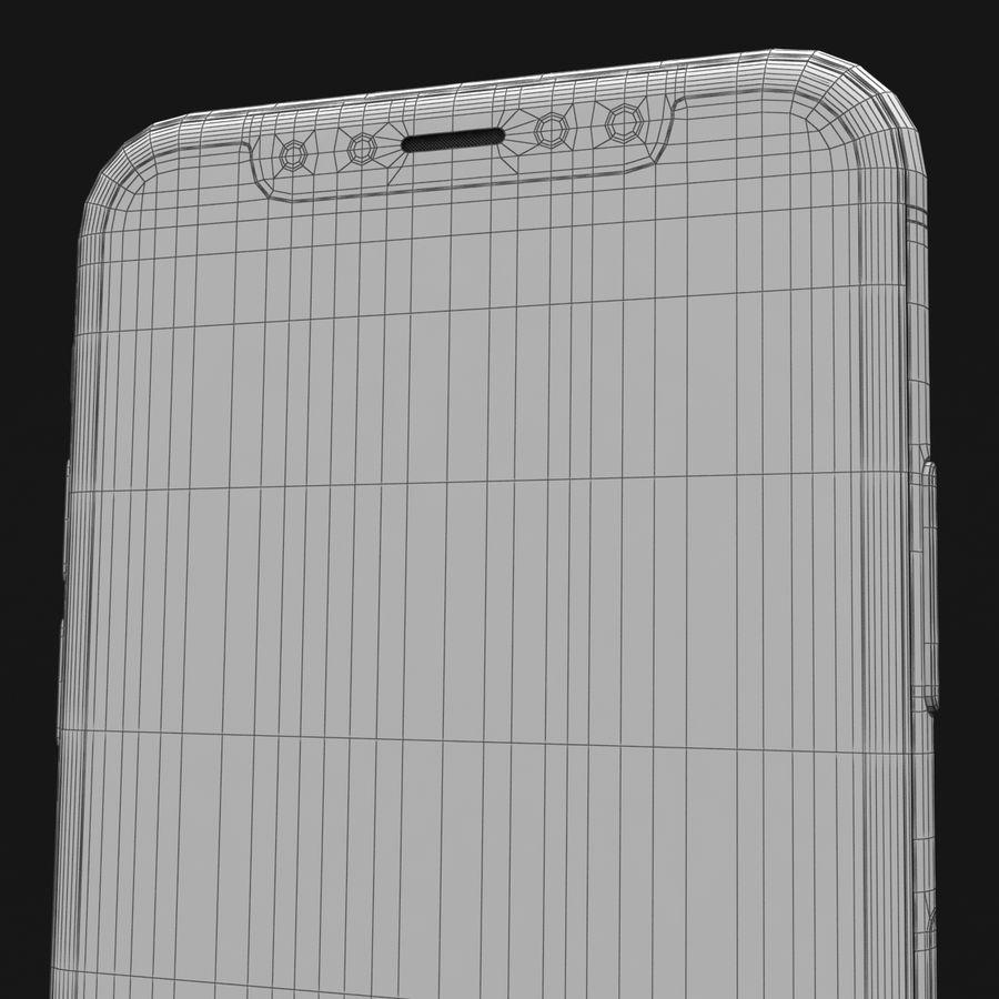 Apple iPhone X Prateado royalty-free 3d model - Preview no. 43