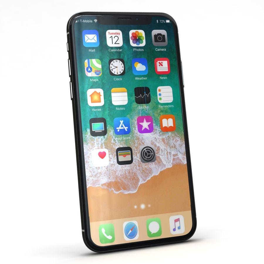 Apple iPhone X Prateado royalty-free 3d model - Preview no. 4
