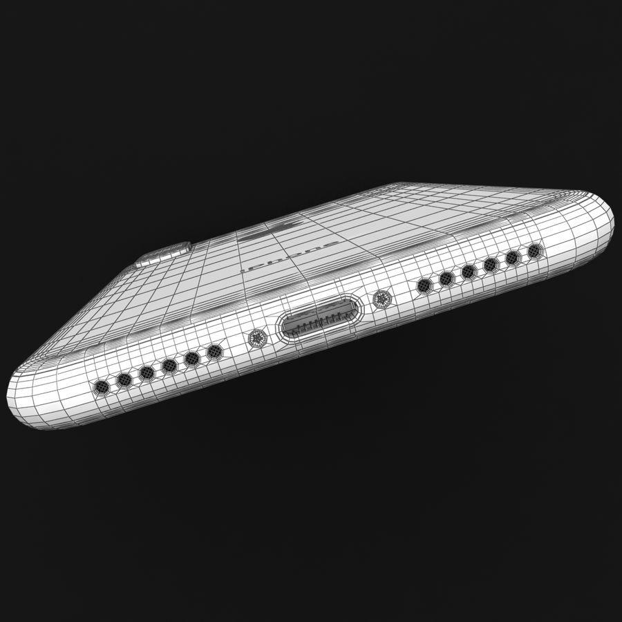 Apple iPhone X Prateado royalty-free 3d model - Preview no. 41