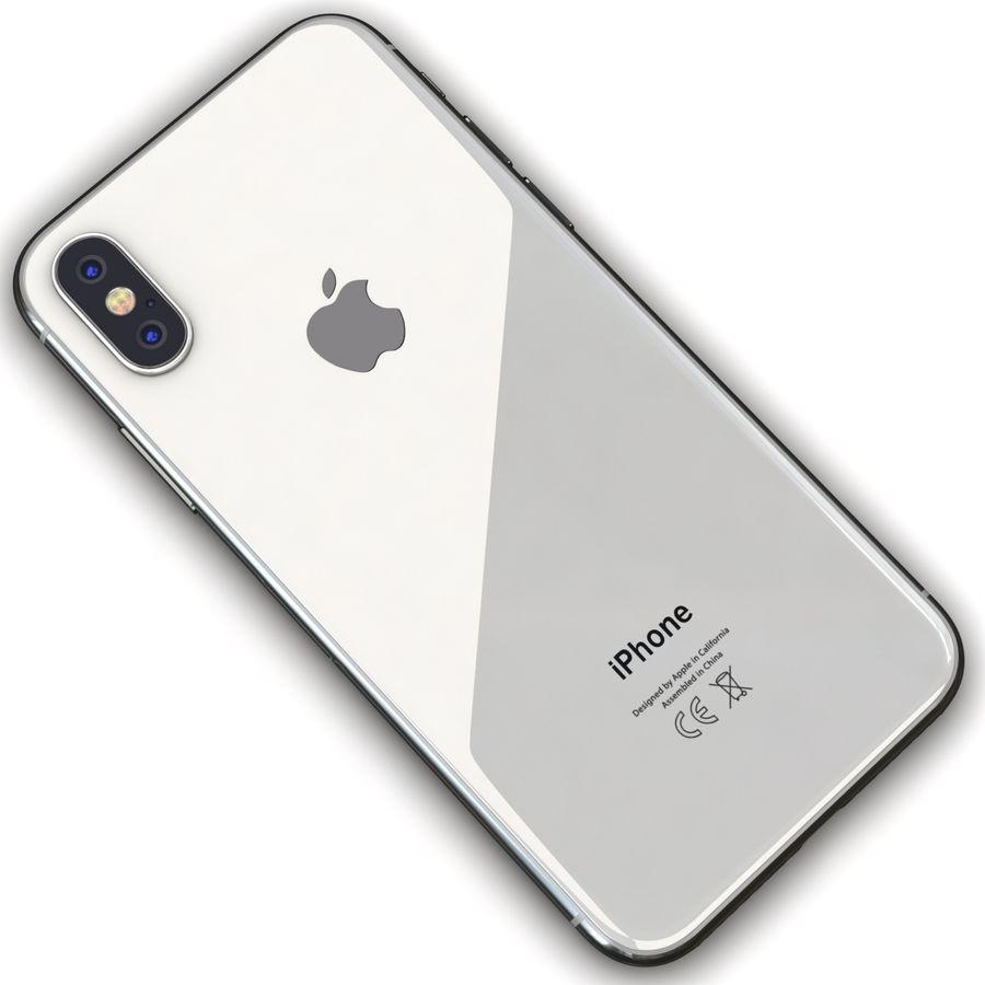 Apple iPhone X Prateado royalty-free 3d model - Preview no. 11
