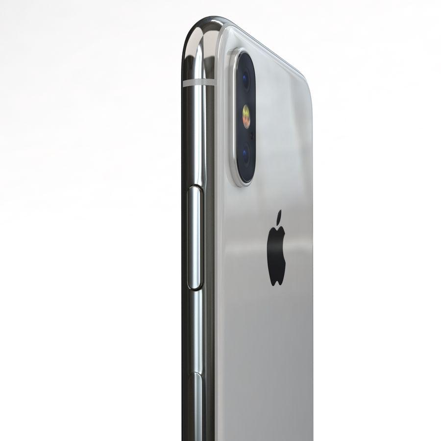 Apple iPhone X Prateado royalty-free 3d model - Preview no. 18