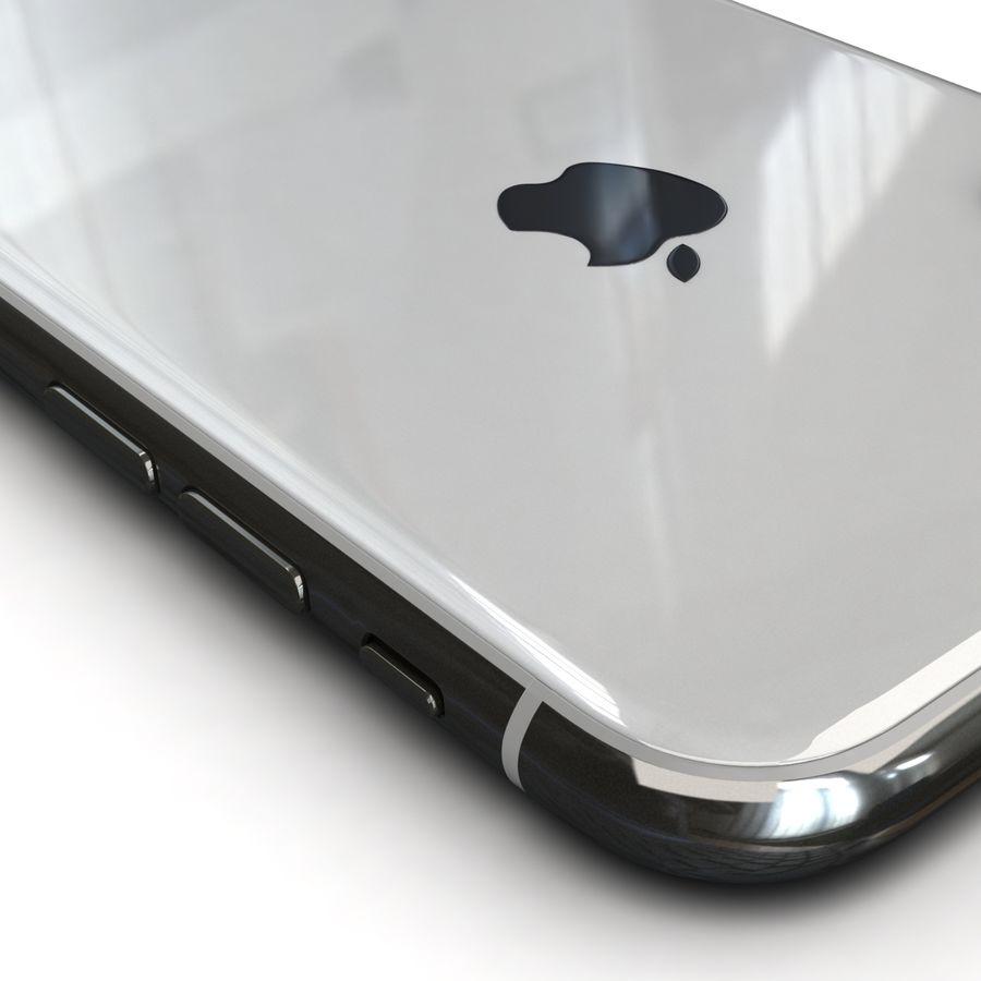 Apple iPhone X Prateado royalty-free 3d model - Preview no. 15