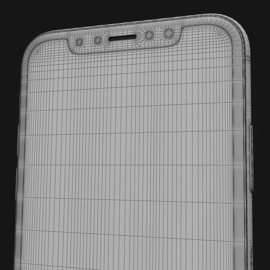 Apple iPhone X Prateado royalty-free 3d model - Preview no. 42