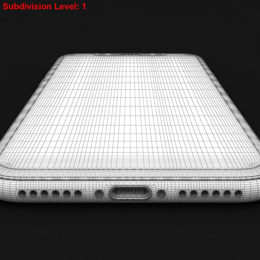 Apple iPhone X Prateado royalty-free 3d model - Preview no. 30