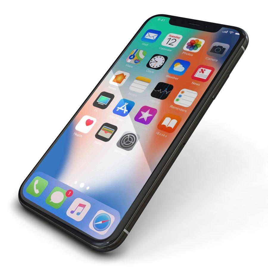 Apple iPhone X Prateado royalty-free 3d model - Preview no. 22