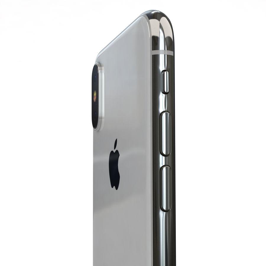 Apple iPhone X Prateado royalty-free 3d model - Preview no. 19
