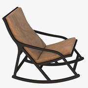 Hotorealistic Derive Ligne Roset cadeira de balanço 3d model