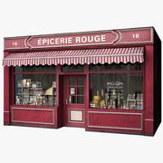 典型的巴黎商店立面史诗 3d model