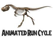 T.rex Skeleton Animated Run Cycle 3d model