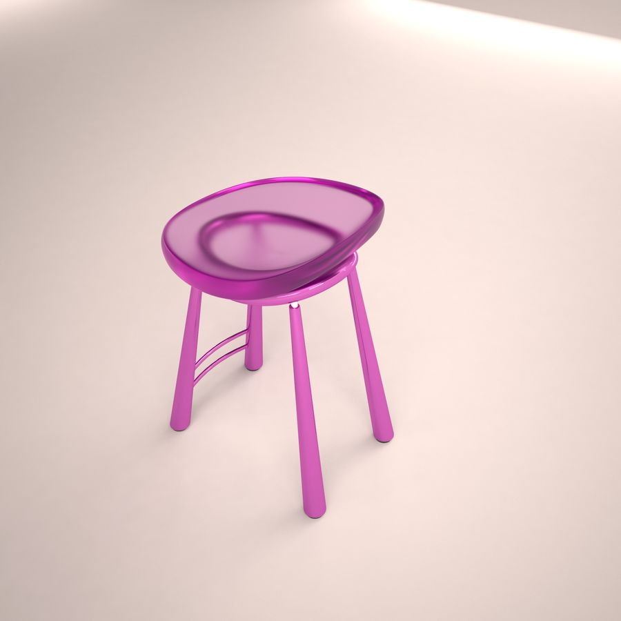 Bar Chair 001 royalty-free 3d model - Preview no. 5