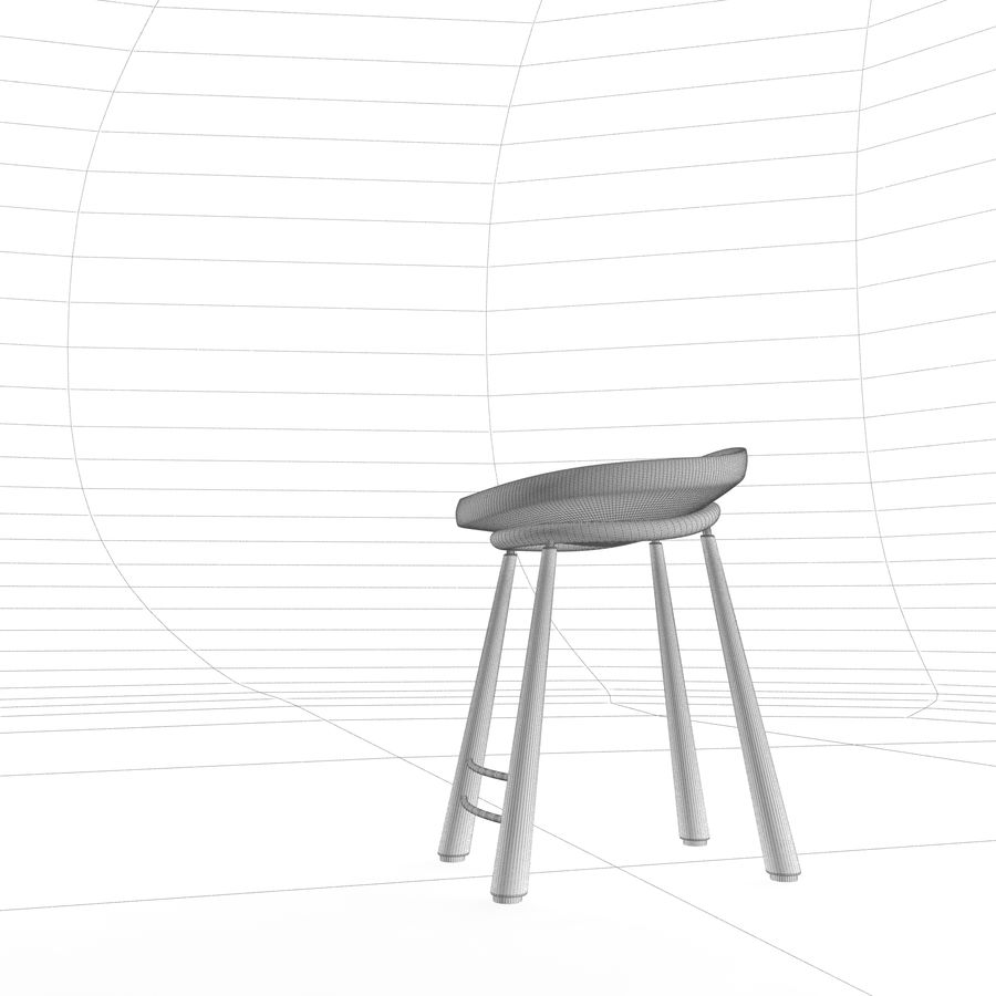 Bar Chair 001 royalty-free 3d model - Preview no. 7