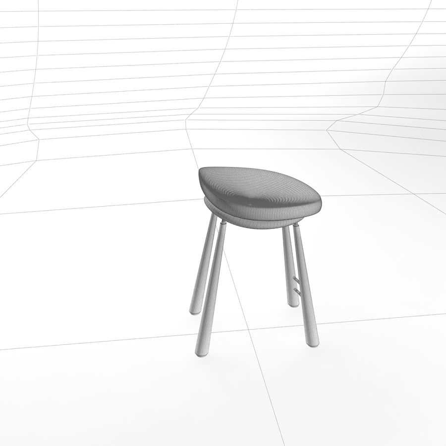 Bar Chair 001 royalty-free 3d model - Preview no. 9