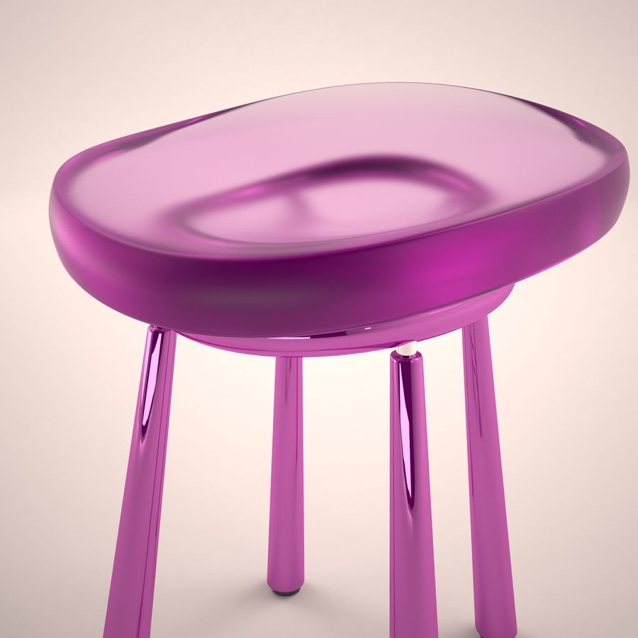 Bar Chair 001 royalty-free 3d model - Preview no. 4