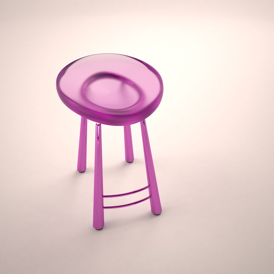 Bar Chair 001 royalty-free 3d model - Preview no. 6