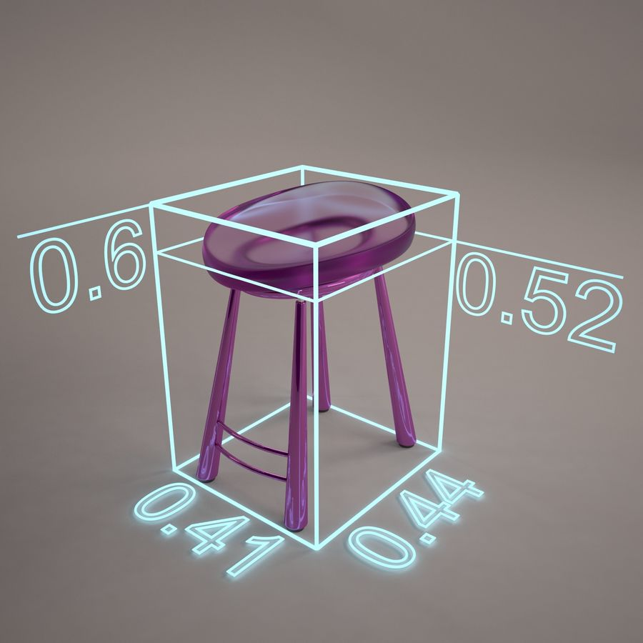 Bar Chair 001 royalty-free 3d model - Preview no. 13