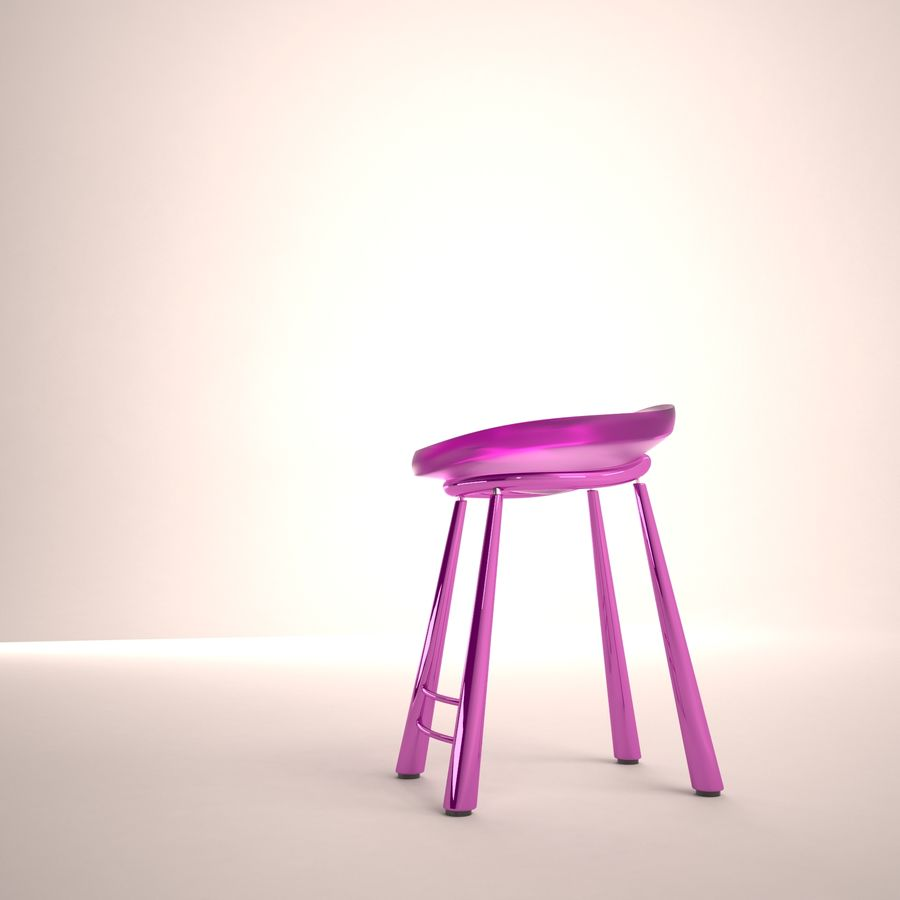 Bar Chair 001 royalty-free 3d model - Preview no. 2