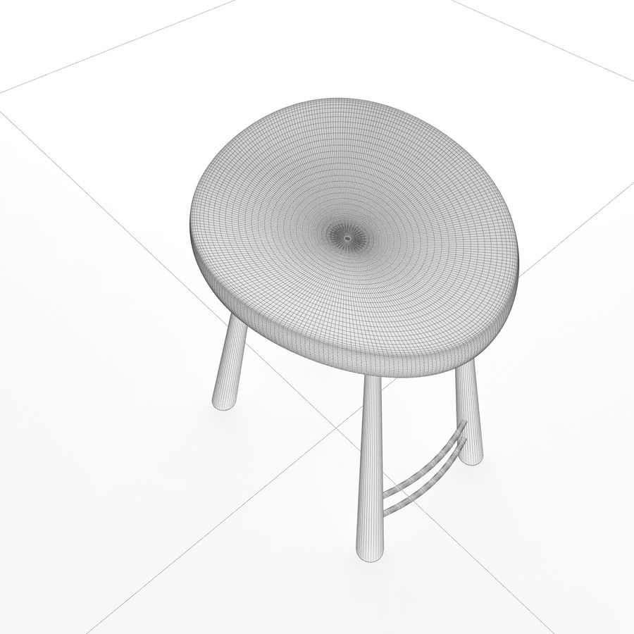 Bar Chair 001 royalty-free 3d model - Preview no. 8