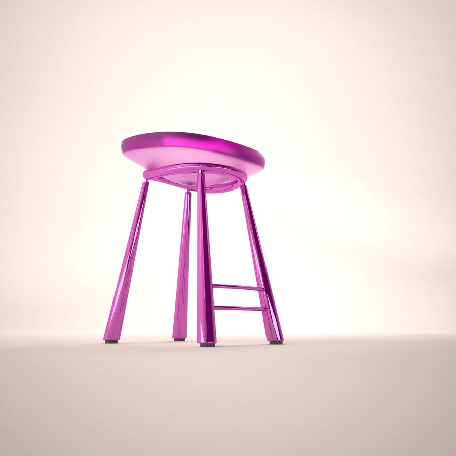 Bar Chair 001 royalty-free 3d model - Preview no. 3