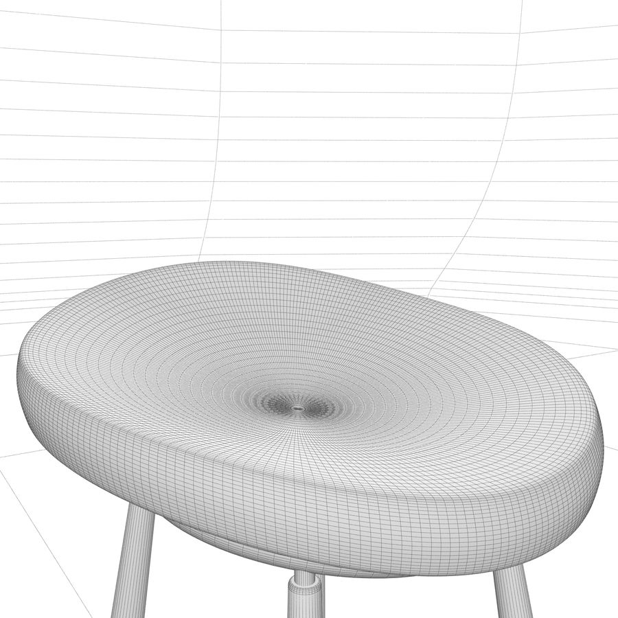 Bar Chair 001 royalty-free 3d model - Preview no. 10