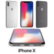 Apple iPhone X modelo 3d
